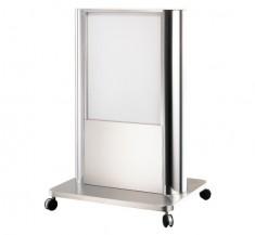ステンレス製フレーム 安定型看板 鏡まるくん152型スタンド 【55-26】