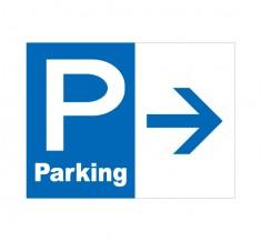 APSC-014 P Parking_5 (アルミパネル看板)