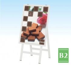 【POS-82】 屋外用ポスタースタンド B2サイズポスター対応