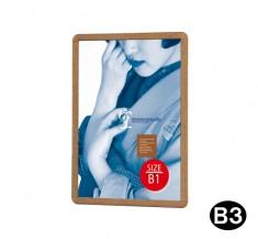 ケヤキ調 白木調 木目フレーム B3型ポスターグリップ PG-32RW-B3