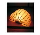 天然木と和紙の風合い扇(おうぎ) 火-03 和風照明  【hi-03】