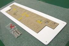 アクリル切文字タイプ オリジナル表札 ONP-007 中村様 立体的な表札でオリジナリティを