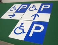 身障者用駐車場サイン パネル看板 APSC-019 シーピーオー設計様