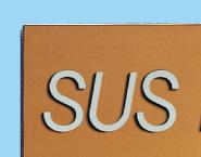 チタンゴールド素材感を生かし、高級感たっぷりの磨き仕上げタイプです。切文字は、ステンレスヘアーライン仕上げオリジナル@看板博覧会