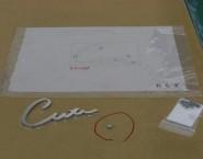 ヘアライン仕上げ 筆記体 ステンレス切文字 CSUS 本井建築研究所様
