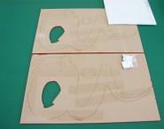 アクリル切文字 設置ボルトあり カラーアクリル OAC-001 AI理容室様