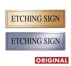 館銘板などに 凹仕上げ文字タイプ オリジナル銘板 OEM-01