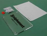 シルク印刷仕上げ 透明アクリル オリジナル表札 ONP-001 株式会社アルファネクスト様