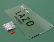 施設名表示に 透明アクリルタイプ オリジナル表札 ONP-001 株式会社ホームデザイン様