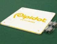 白・透明アクリル 2層パネルタイプオリジナル表札 ONP-006 ピピドット株式会社様