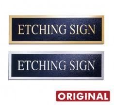 ステンレス材などで 凸仕上げ文字タイプ オリジナル銘板 TEM-01