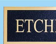 チタンゴールド素材感と高級感たっぷりの磨き仕上げデザインタイプ。文字は、凸仕上げ素材オリジナル仕上@看板博覧会